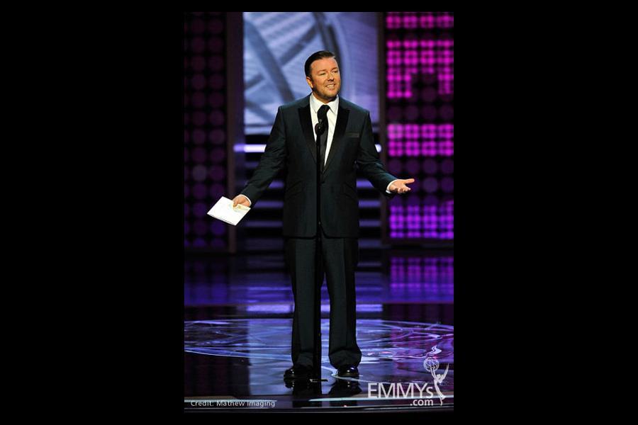 Presenter Ricky Gervais