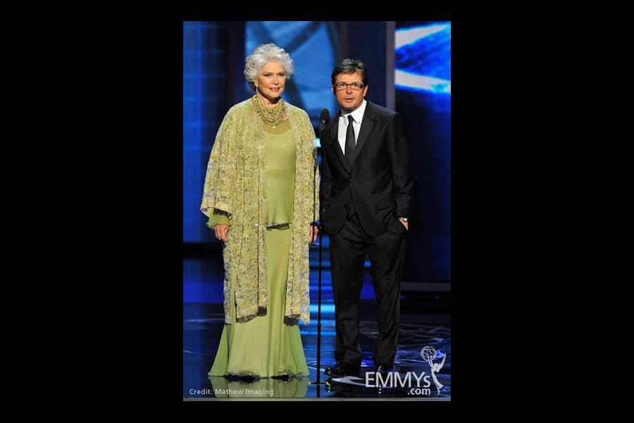 Actors Ellen Burstyn and Michael J. Fox