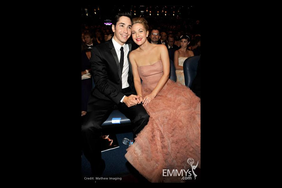 Actors Justin Long and Drew Barrymore