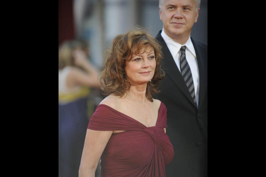 Susan Sarandon and Tim Robbins at the 60th Primetime Emmy Awards