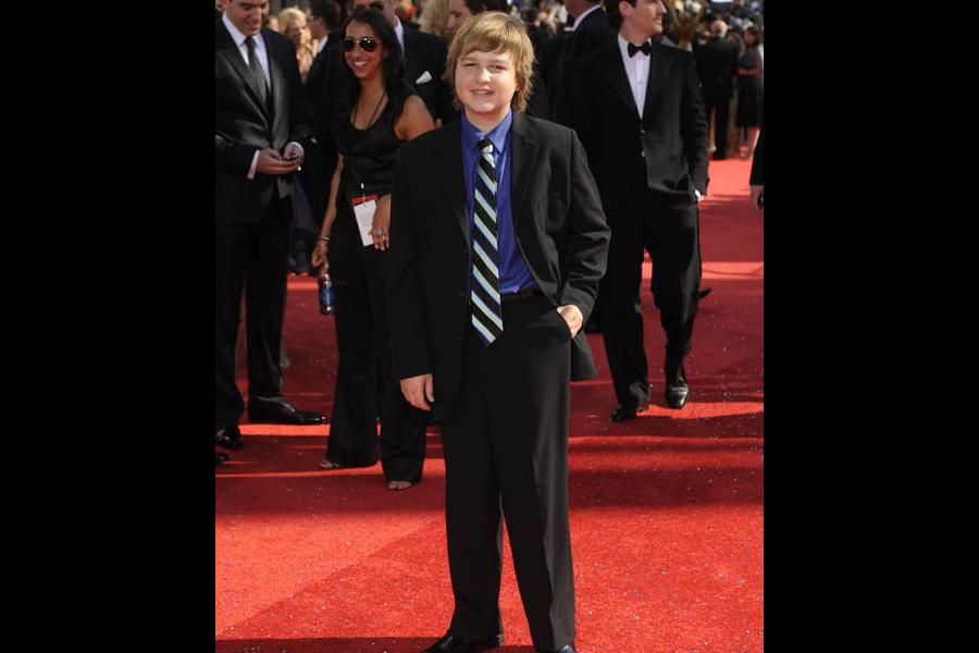 Two and a Half Men co-star Angus T. Jones at the 60th Primetime Emmy Awards