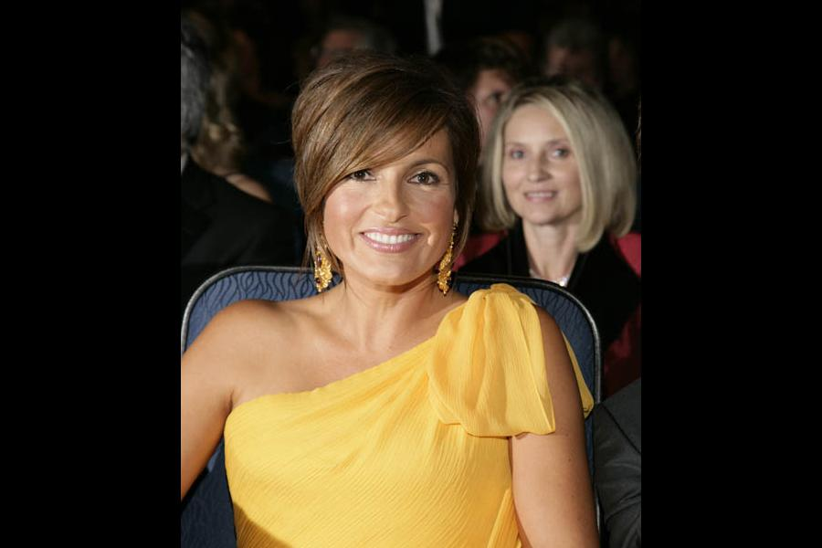 Law & Order: Special Victims Unit star Mariska Hargitay at the 60th Primetime Emmys held at the Nokia Theatre