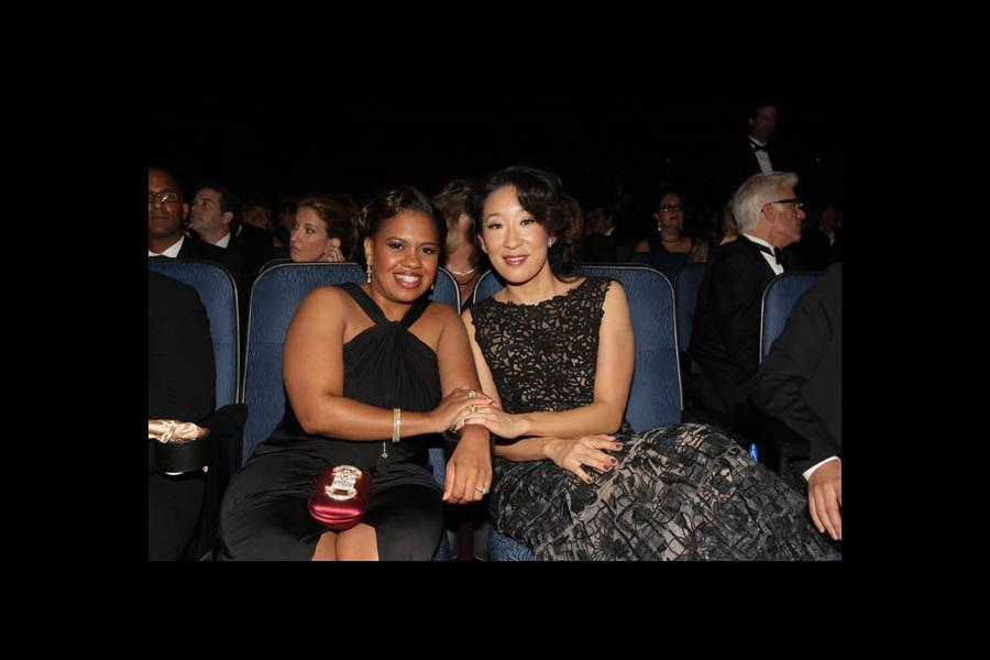 Chandra Wilson and Sandra Oh at the 60th Primetime Emmy Awards