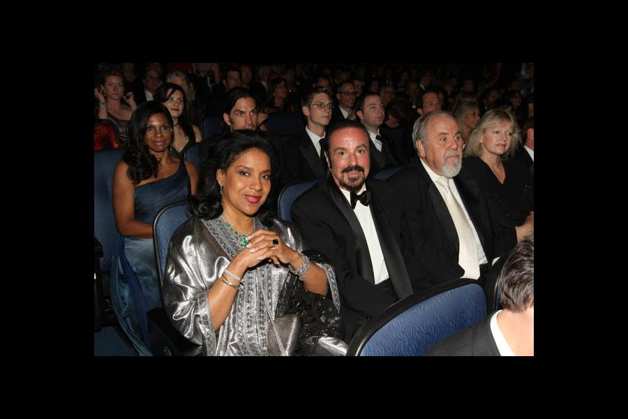 Phylicia Rashad (front left) and Audra McDonald (rear left) at the 60th Primetime Emmy Awards