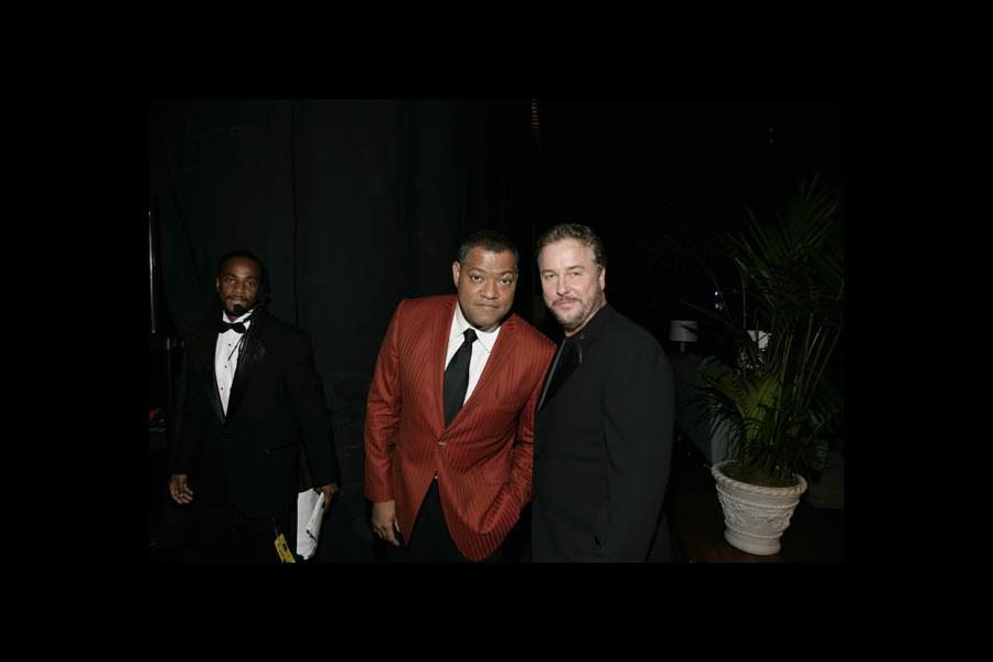 CSI stars Laurence Fishburne and William Petersen at the 60th Primetime Emmy Awards