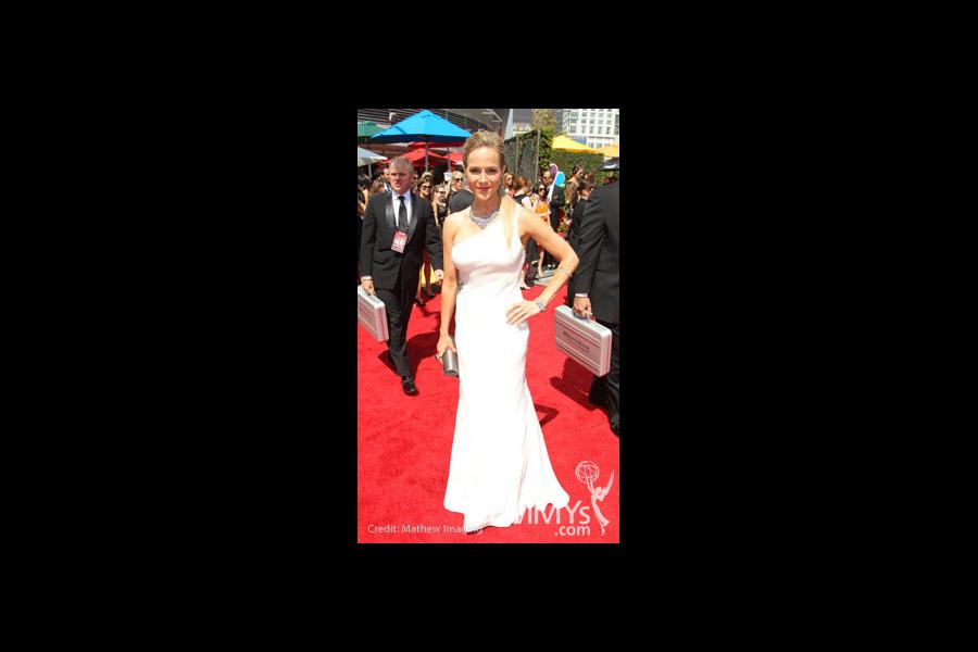 Actress Julie Benz arrives at the 62nd Annual Primetime Emmy Awards held at the Nokia Theatre