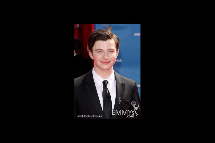 Chris Colfer arrives at the 62nd Annual Primetime Emmy Awards held at the Nokia Theatre