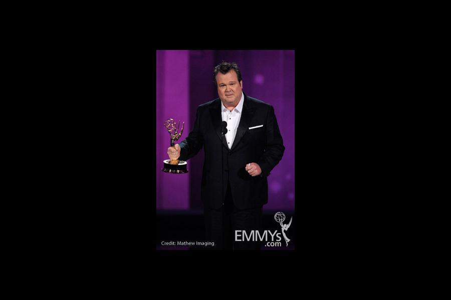 Actor Eric Stonestreet accepts his award onstage at the 62nd Annual Primetime Emmy Awards held at the Nokia Theatre