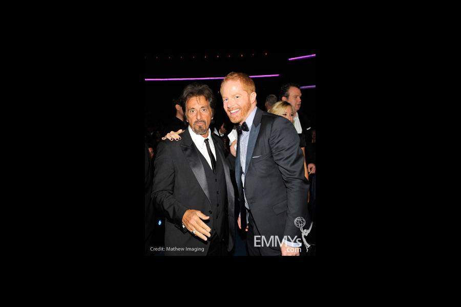 Actors Al Pacino and Jesse Tyler Ferguson attend the 62nd Annual Primetime Emmy Awards held at Nokia Theatre