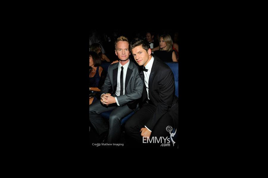 Actor Neil Patrick Harris and boyfriend David Burtka attend the 62nd Annual Primetime Emmy Awards held at Nokia Theatre
