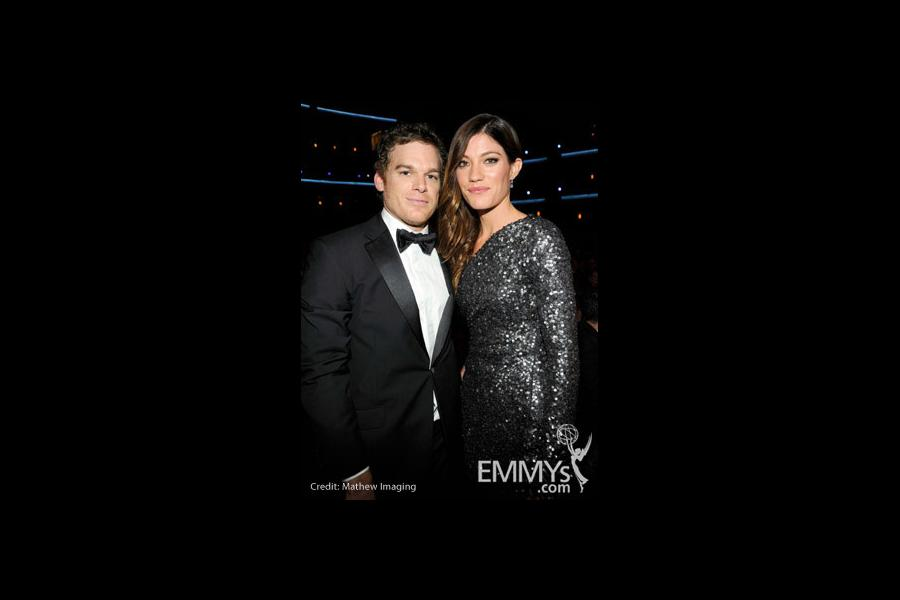 Actors Michael C. Hall and wife Jennifer Carpenter attend the 62nd Annual Primetime Emmy Awards held at Nokia Theatre
