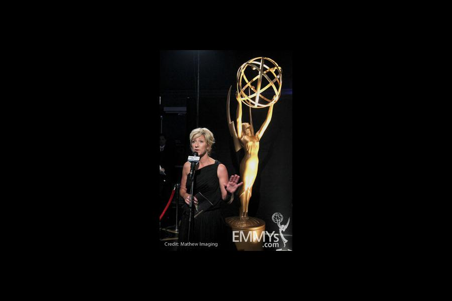 Edie Falco at the 62nd Annual Primetime Emmy Awards held at Nokia Theatre