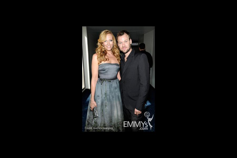 Actress Toni Collette and husband Dave Galafassi attend the 62nd Annual Primetime Emmy Awards held at Nokia Theatre