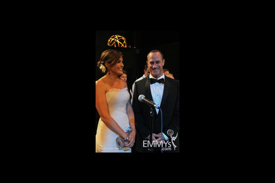 Mariska Hargitay and Christopher Meloni at the 62nd Annual Primetime Emmy Awards held at Nokia Theatre