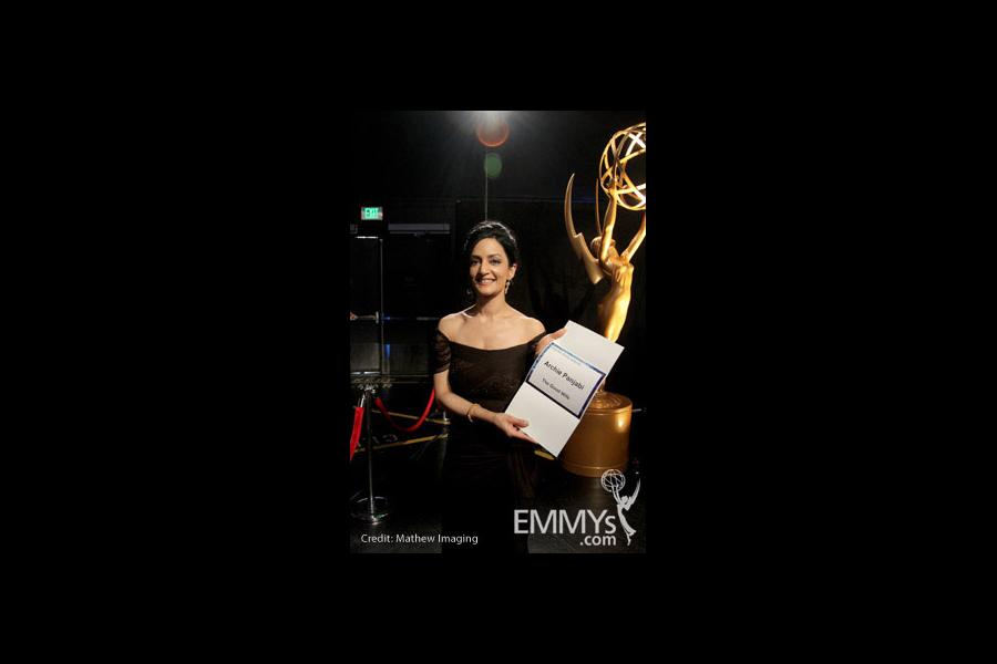 Archie Panjabi in the Green Room during the 62nd Annual Primetime Emmy Awards held at Nokia Theatre