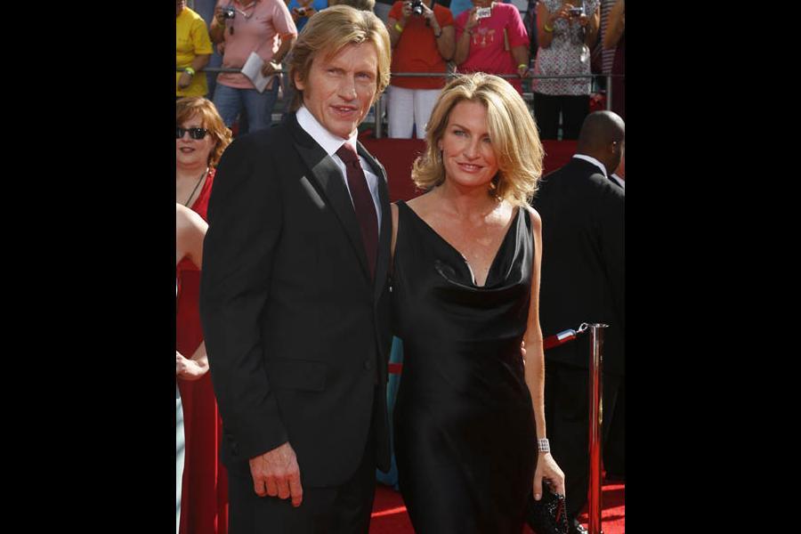 Red Carpet & Greenroom — Denis Leary & wife Ann