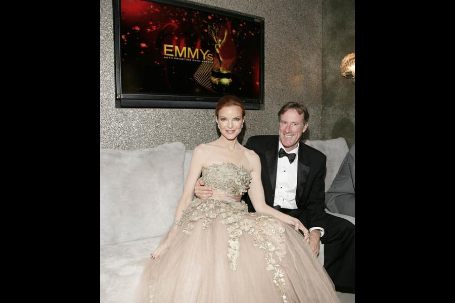 Red Carpet & Greenroom -  Marcia Cross and husband Tom Mahoney