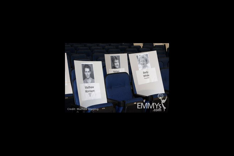 Inside the Nokia Theatre at the red carpet rollout for the 62nd Primetime Emmy Awards