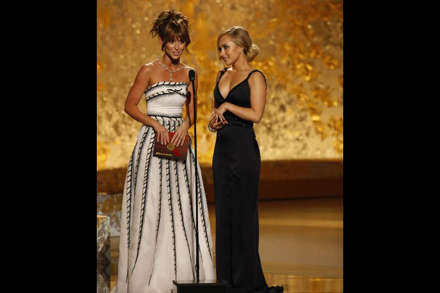 Jennifer Love Hewitt and Hayden Panettiere at the 60th Primetime Emmys