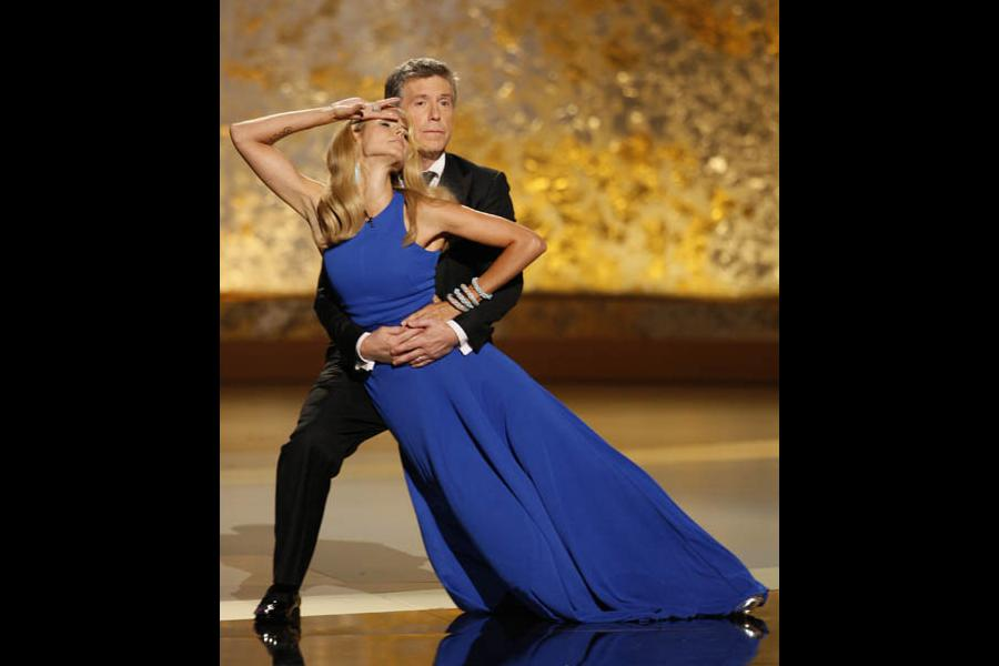 Tom Bergeron & Heidi Klum at the 60th Primetime Emmys