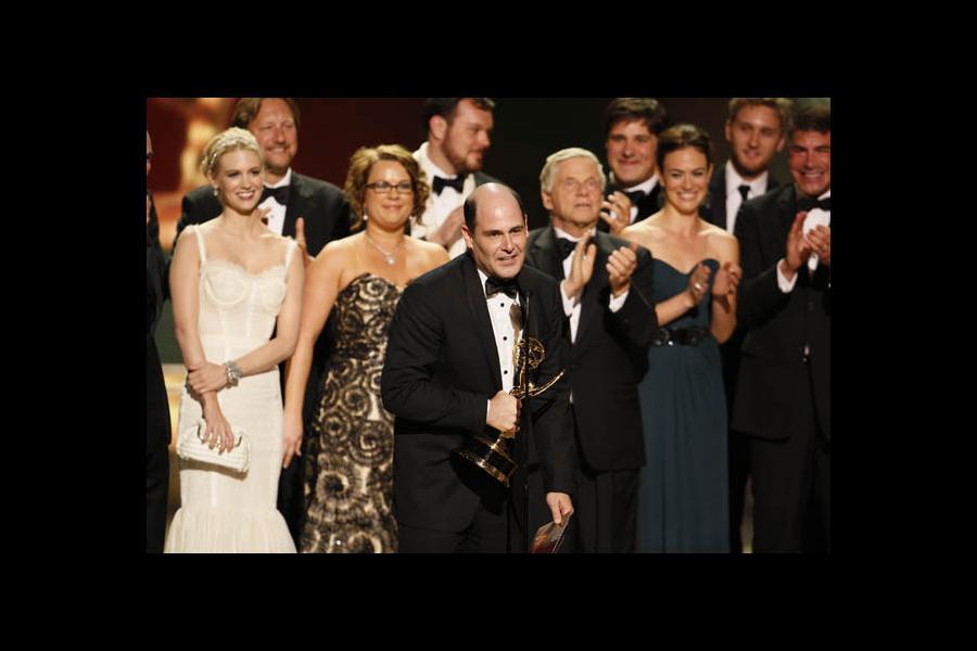 Matt Weiner with Mad Men cast & creators at the 60th Primetime Emmys