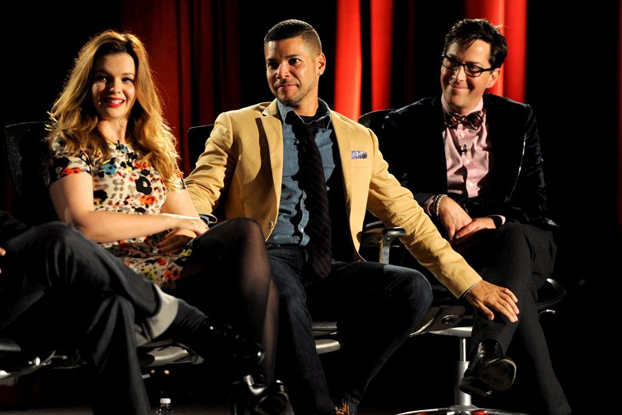 Amber Tamblyn, Wilson Cruz, and Dan Bucatinsky