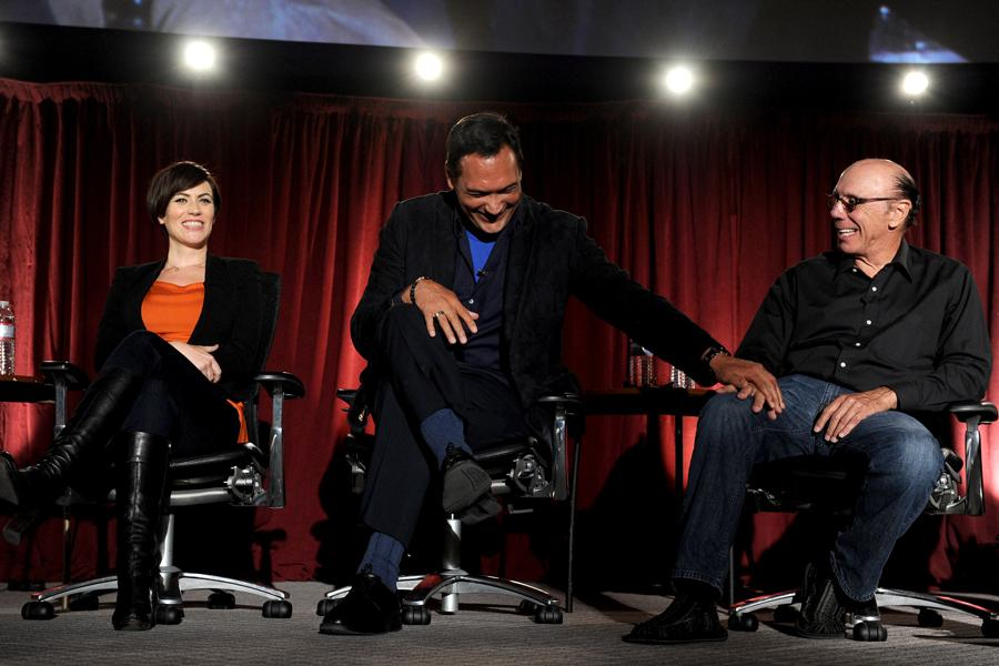 Maggie Siff, Jimmy Smits, and Dayton Callie