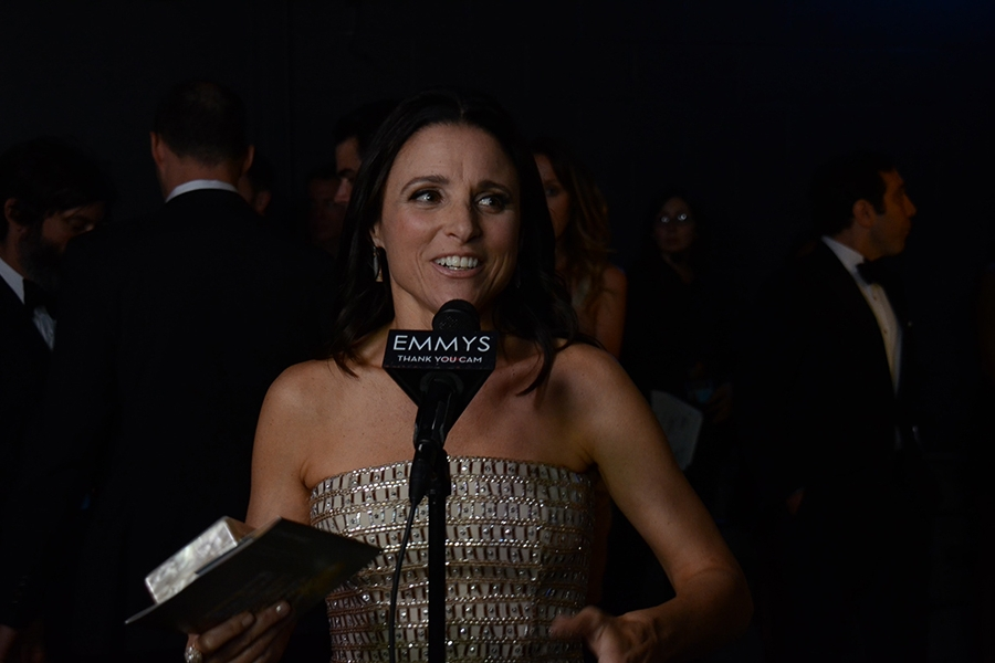 Julia Louis-Dreyfus at the Backstage Live Thank You Cam