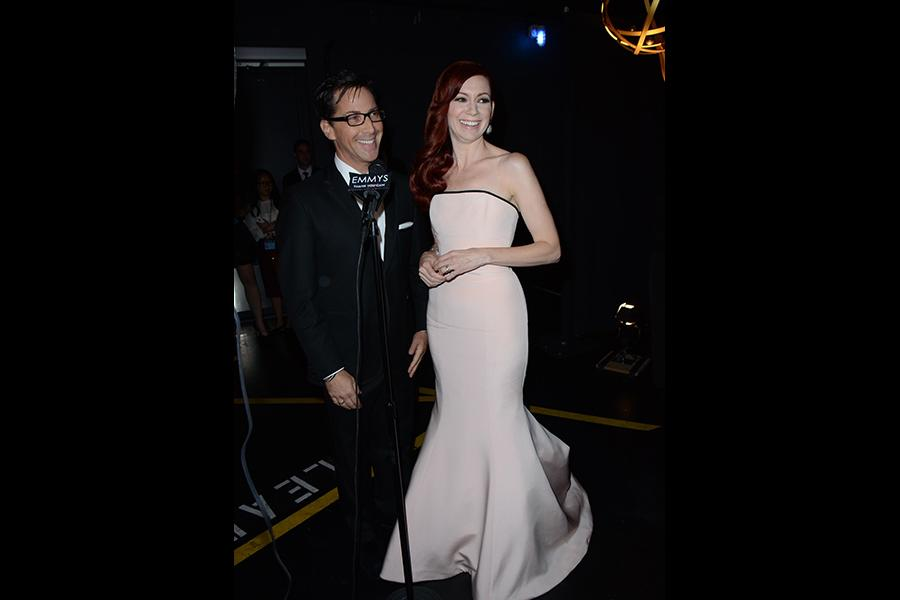 Dan Bucatinsky and Carrie Preston at the Backstage Live Thank You Cam