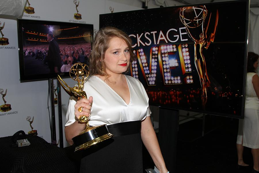 Merritt Wever at the Backstage Live Social Media Cam.