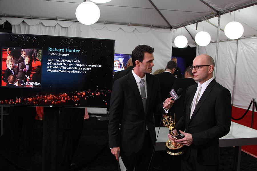 Steven Soderbergh speaks with Marc Istook at the Backstage Live Social Media Cam.