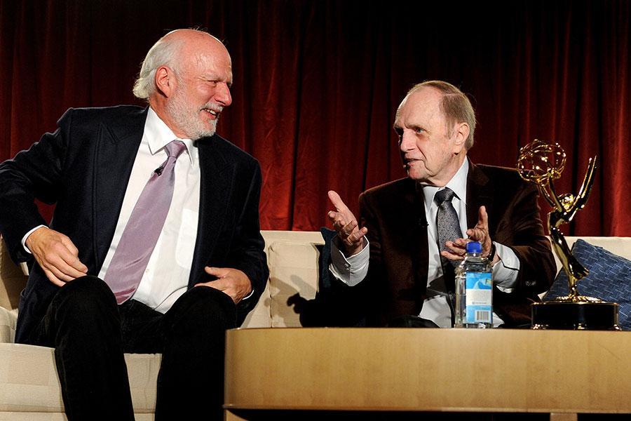 Bob Newhart and James Burrows