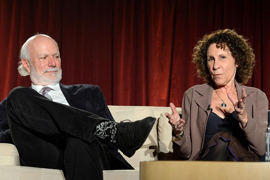 Rhea Perlman and James Burrows