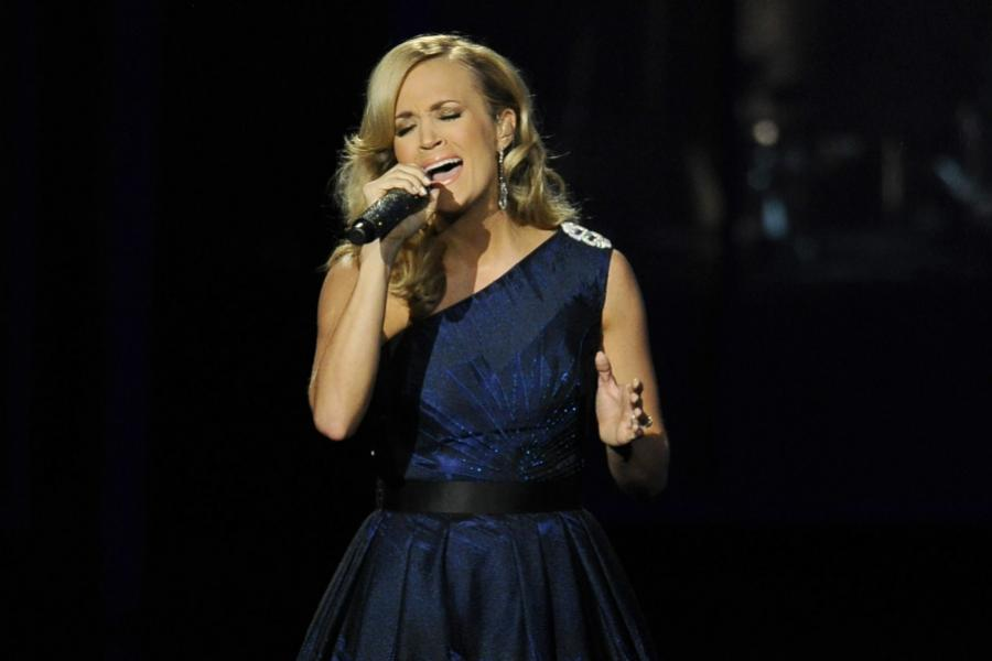 Carrie Underwood performs at the 65th Emmys