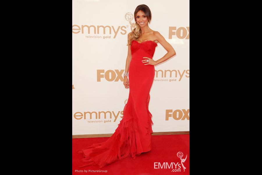 Giuliana Rancic arrives at the Academy of Television Arts & Sciences 63rd Primetime Emmy Awards at Nokia Theatre L.A. Live