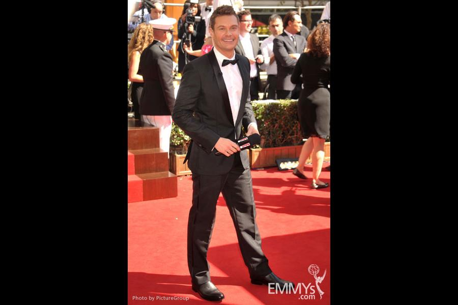 Ryan Seacrest arrives at the Academy of Television Arts & Sciences 63rd Primetime Emmy Awards at Nokia Theatre L.A. Live