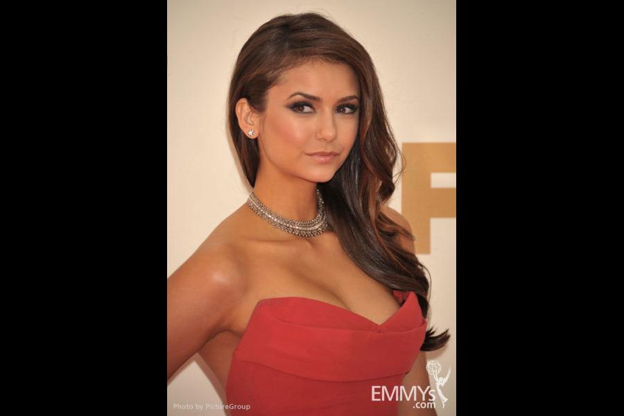 Nina Dobrev arrives at the Academy of Television Arts & Sciences 63rd Primetime Emmy Awards at Nokia Theatre L.A. Live