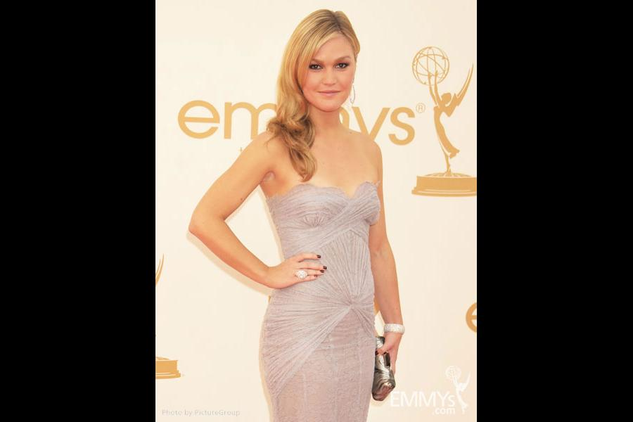 Julia Stiles arrives at the Academy of Television Arts & Sciences 63rd Primetime Emmy Awards at Nokia Theatre L.A. Live