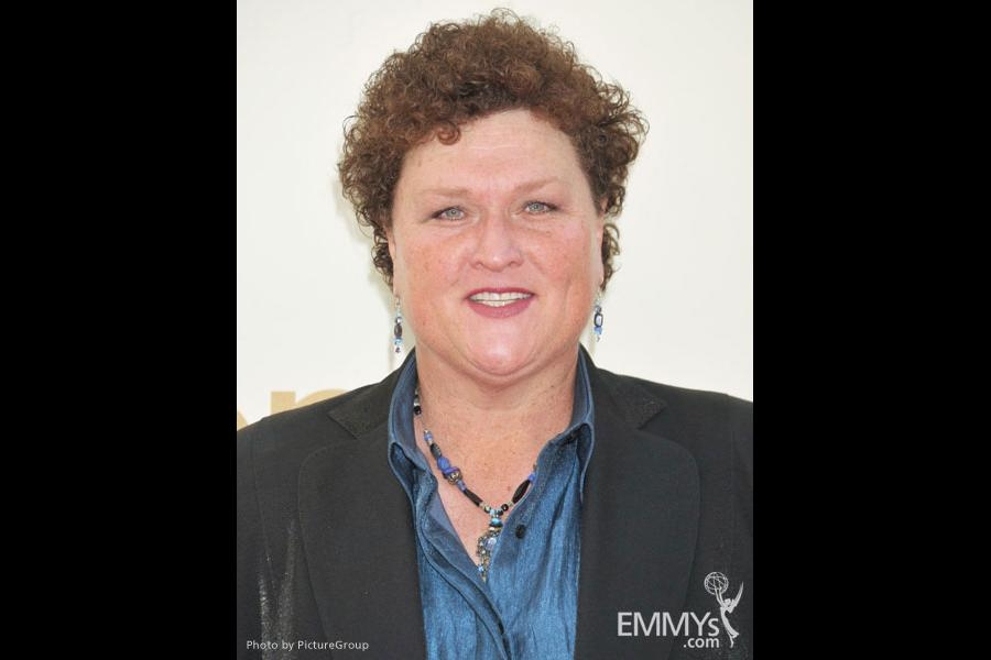 Dot Marie Jones arrives at the Academy of Television Arts & Sciences 63rd Primetime Emmy Awards at Nokia Theatre L.A. Live