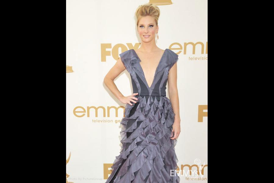 Heather Morris arrives at the Academy of Television Arts & Sciences 63rd Primetime Emmy Awards at Nokia Theatre L.A. Live