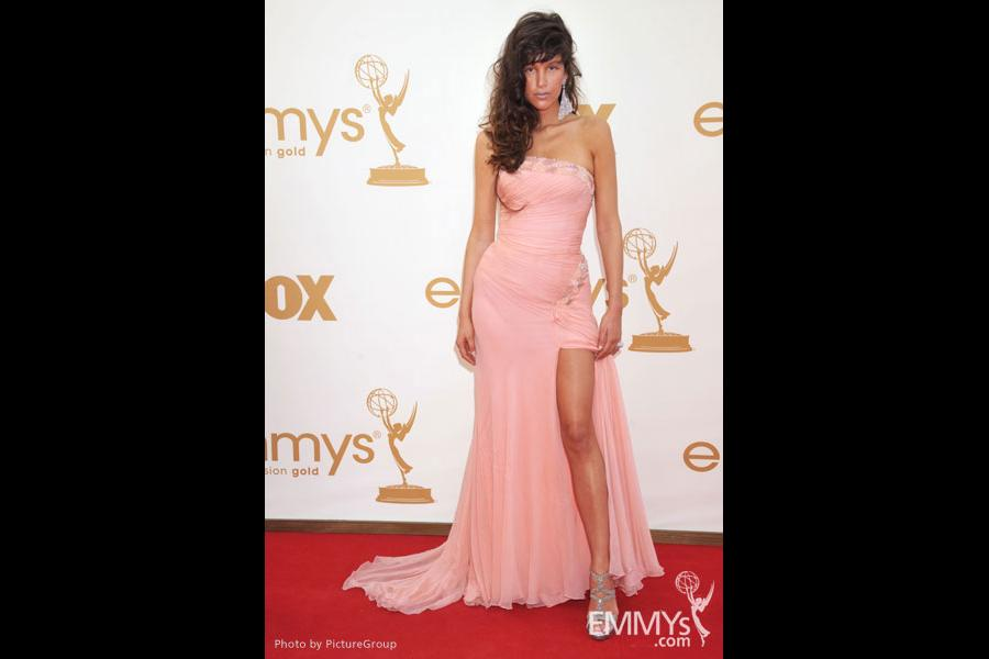 Paz de la Huerta arrives at the Academy of Television Arts & Sciences 63rd Primetime Emmy Awards at Nokia Theatre L.A. Live