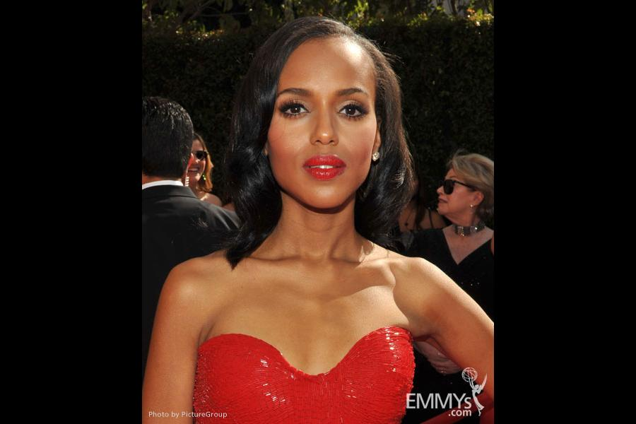 Kerry Washington arrives at the Academy of Television Arts & Sciences 63rd Primetime Emmy Awards at Nokia Theatre L.A. Live