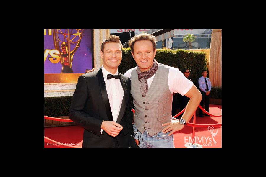 Ryan Seacrest (L) and executive producer Mark Burnett