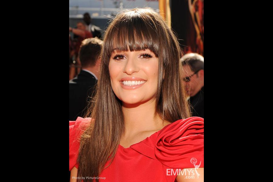 Lea Michele arrives at the Academy of Television Arts & Sciences 63rd Primetime Emmy Awards