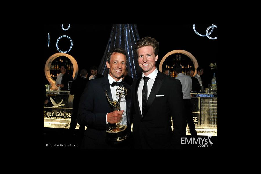 (L-R) Seth Meyers and Josh Meyers attend the 2011 Academy of Television Arts & Sciences Primetime Creative Arts Emmy Awards