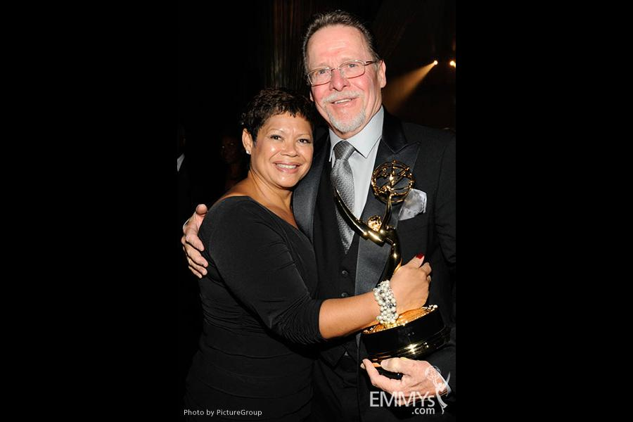Lali Cea and Bob Long attends the 2011 Academy of Television Arts & Sciences Primetime Creative Arts Emmy Awards