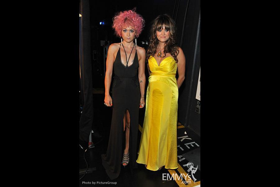 (L-R) Nikki Dimitras and Amanda Needham
