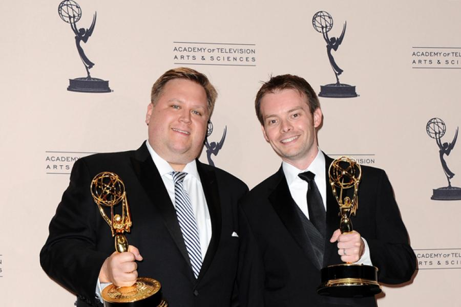 Tim Kelly and Jonathan Soule at the 65th Creative Arts Emmys