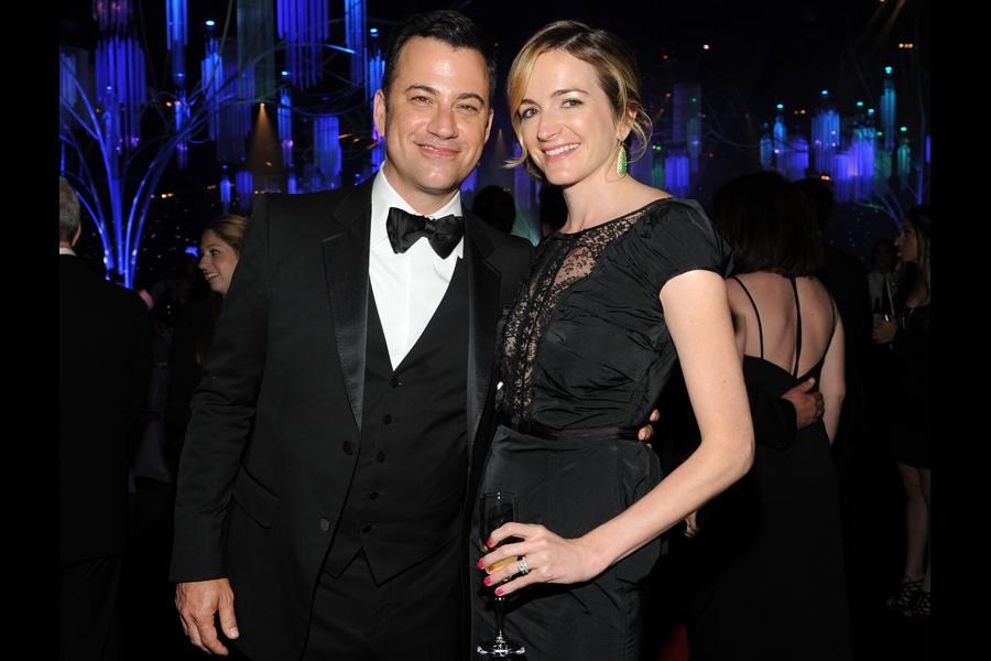 Jimmy Kimmel and Molly McNearney at the Governors Ball