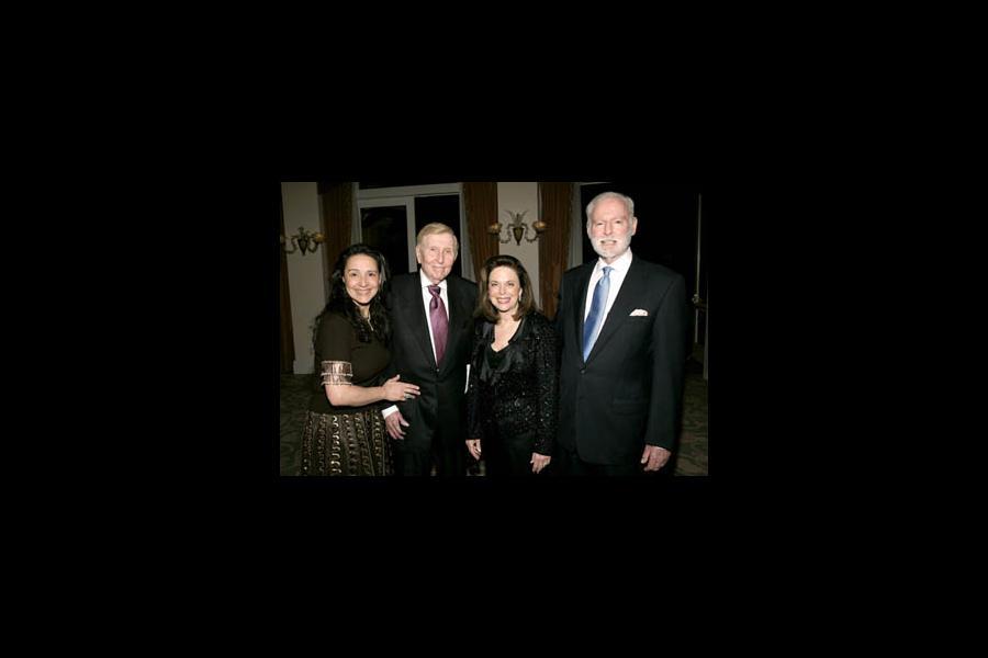 Sumner Redman, Leonard Goldberg and guests